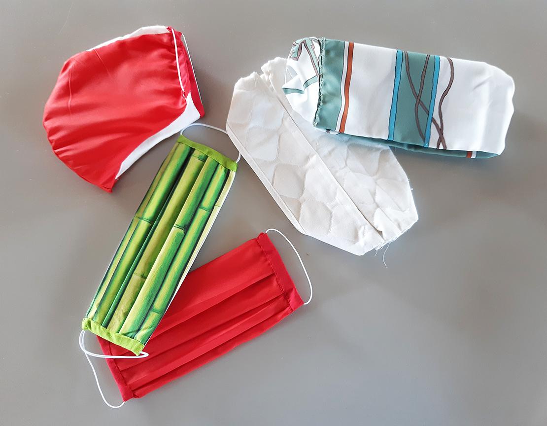 Masques en tissu distribués aux habitants de Saint-Epain